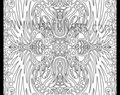 DIGITAL Coloring Book!! Come color with me!! Set 1