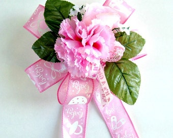 Pink It's A Girl gift bow, Pink baby shower bow, Gift for new moms, Gift wrap bow, Baby shower decoration, Gift bow new baby girls (BG43)