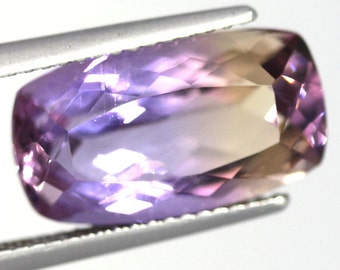Natural Ametrine 6.03 Carat Baguette Purple Yellow