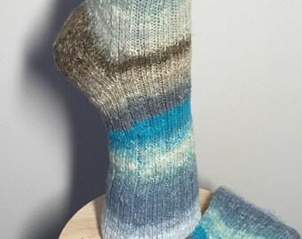 Handknit wool ladies socks