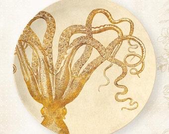 Octopus I melamine plate