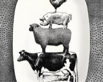 Animal Stack melamine platter