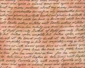 Renaissance Dusky Rose Script Fat Quarter Fabric Material (F954-4)
