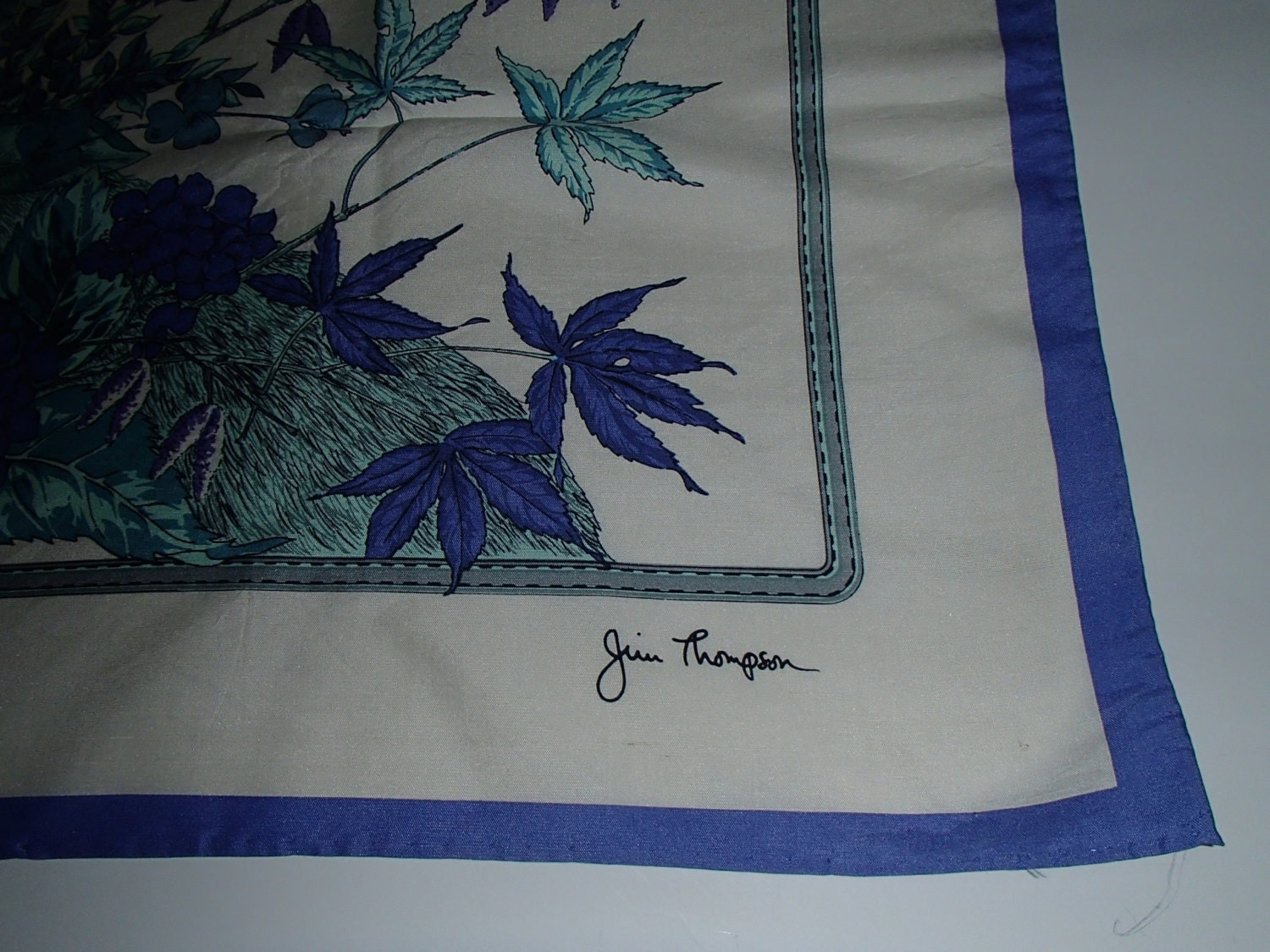Vtg jim thompson designer signed thai silk in by for Thai silk jim thompson