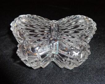 Butterfly Trinket Box Glass Great for Jewelry