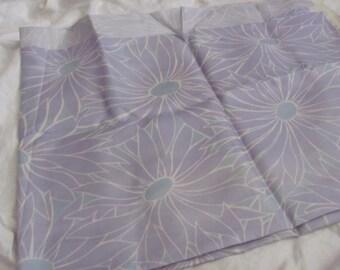 "Fabric Pale Lavender Purple Silk Fabric Yardage - 44"" x 90"" Total - Unused"