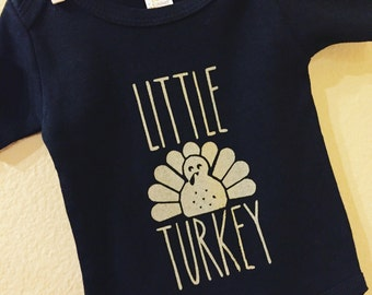 Little Turkey Baby Onesie. Baby clothes. Funny baby clothes. Baby shower gifts. Holiday Onesies.