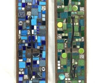 Mosaic Wall Hooks - Set of Two