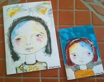 notebook, smal, blanco sites, portrait colour prints, 10 cm x 13,5 cm