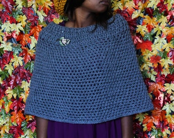 The Cabin Crochet Cape Pattern. Instant Download!