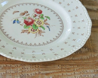 "Vintage Royal Doulton 9"" Luncheon Plate, Warwick Dinner Plate, English Transferware"