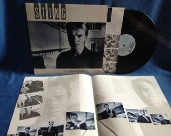 """Vintage, Sting - """"The Dream Of The Blue Turtles"""", Vinyl LP, Record Album, Original 1985 Press, Shadows In The Rain, Love Is The Seventh Wave"""