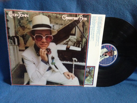 Vintage Elton John Greatest Hits Vinyl Lp By Sweetleafvinyl