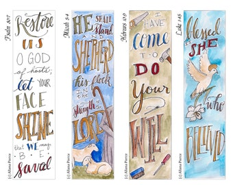 Advent 4 Bible Bookmark / Bible Journal Tag **INSTANT DOWNLOAD** Perfect Advent Activity!