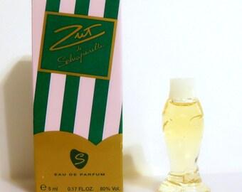 Vintage 1990s Zut by Schiaparelli 0.17 oz Eau de Parfum Mini Miniature and Box PERFUME