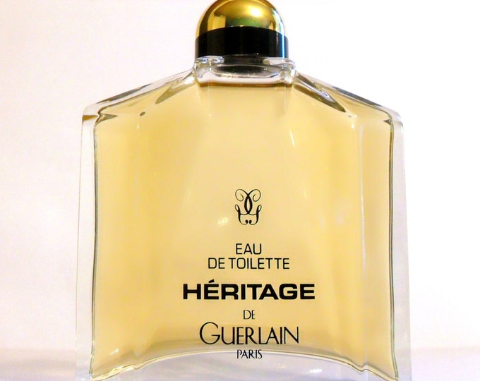 Vintage 1990s Heritage by Guerlain Eau de Toilette Splash Factice Dummy Bottle COLOGNE