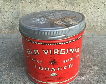 Old Virginia smoking tobacco can Number 4
