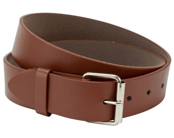 Brown Leather Belt Strap, Mens Belt, Womens Belt, Medium Belt Strap, Interchangeable Snap Belt Strap With Silver Belt Buckle , Kids Belt