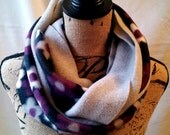 3-in-1 Fleece Infinity Scarves - Floral and Grey