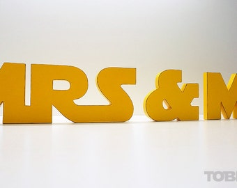 Star Wars Mr and Mrs Wedding Sign Mr & Mrs wooden letters table decor Wedding gift