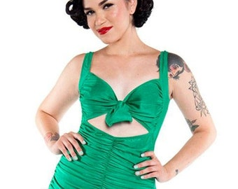 CLEARANCE EMERALD GREEN Swoon 1 Piece Swimsuit (xs-xxl)