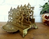 Ornate Brass Letter, Mail Holder/Desk Organizer