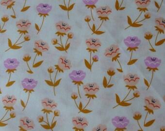 1/2 Yard Organic Cotton Fabric - Cloud 9 Fabrics, Vignette, Buttercup Pink