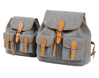 Backpack Travelling Backpack Daily Bag Wool Felt School Bag Christmas Gift Handbag S--Tophome
