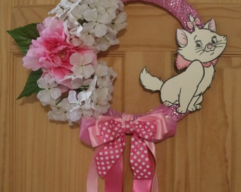 Marie Kitty from the Aristocats Spring Wreath
