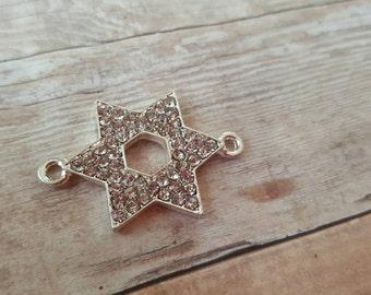 Rhinestone Star of David connector