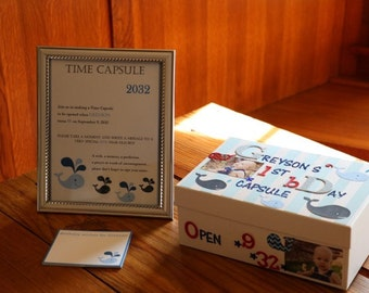 First Birthday Time Capsule Instructions PRINTED