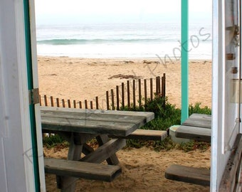 5 x 7 matted photo, Crystal Cove, door beach photograph
