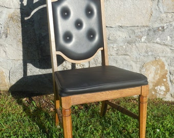 Mid Century Black Vinyl Chair