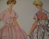 Vintage 1960's McCall's 5401 Dress Sewing Pattern, Size 12, Bust 32