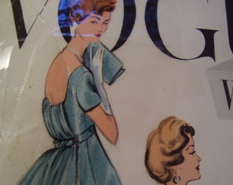 Vintage 1950's Vogue 4915 Special Design Evening Gown Bridal Dress Sewing Pattern, Size 12, Bust 32