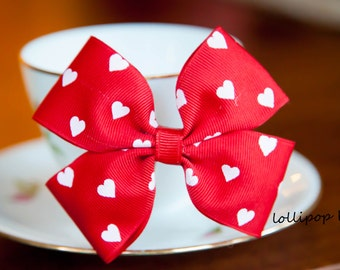 Red Bow Hair Clip Kids Hair Bow Girls Hair Bow Toddler Hair Bow Baby Hair Bow Birthday Party Hair Bow