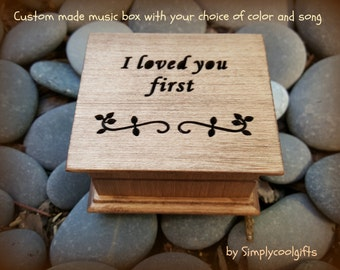 music box, wedding music box, wedding favor, father of bride gift, personalized gift, wedding gift, i loved you first