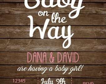 Custom Baby Shower Invitation