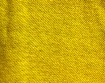 Hand Dyed Felted Wool - lemon solid