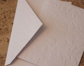 Leaf card SINGLE, embossed greeting or note card, rustic birthday, thank you, or wedding