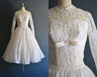 Karina / 50s wedding dress / vintage 1950s wedding dress