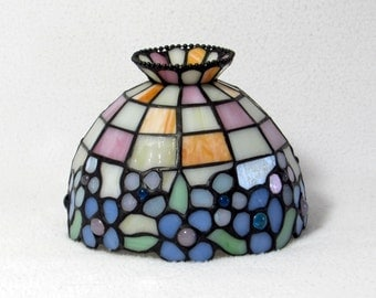 Pretty Pastels Stained Glass Lamp Shade