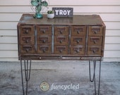 Metal Library Card Cabinet