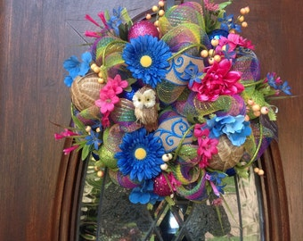 Small Bright Colored Spring/Summer Wreath
