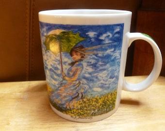 Chaleur mug Monet art ladies with umbrellas Master Impressionists
