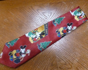 Disney Mickey Mouse Christmas Necktie Mickey Unlimited