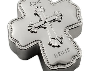 Customized Abbey Silver Musical Cross by Reed & Barton