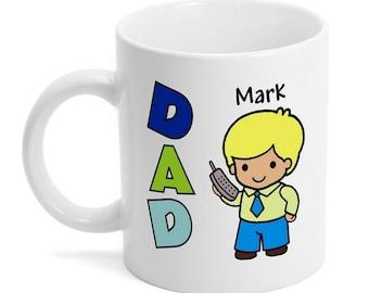 Personalized Dad Animated Ceramic Mug