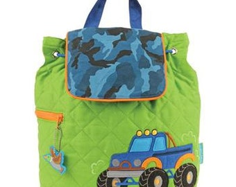 Personalized Stephen Joseph Truck Quilted Backpack