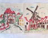 Vintage Embroidery Dutch Windmill Sampler